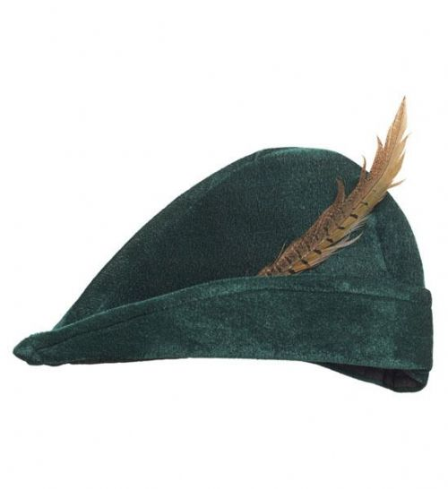 Prince Of Thieves Hat W/ Feather Handsome Royal Regal Hero Fancy Dress